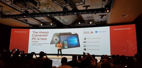 Qualcomm is pushing for the always on always connected PC. Truly changing the game @ #SnapdragonSummit