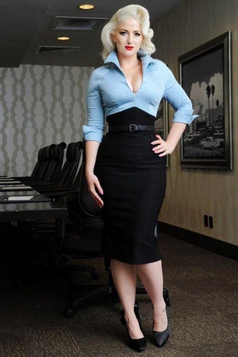 Pinup Couture Lauren Dress Blue Pencil Dress 100 30 17119 1