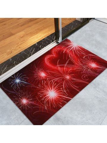 Valentine S Day Heart Fireworks Print Water Absorption Area