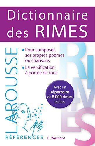 Telecharger Dictionnaire Des Rimes Livre Pdf Gratuit In 2021 Ebook Jeunesse Broche