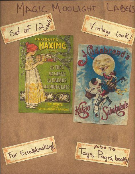 Primitive Vintage Easter Rabbits Chicks Baskets Eggs Pantry Labels Set of 12