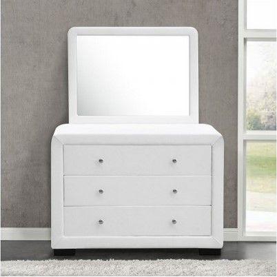 Commode Lucay Avec Miroir Et 3 Tiroirs Reflet Blanc Pas Cher Commode Concept Usine Mobilier De Salon Commode Miroir Commode