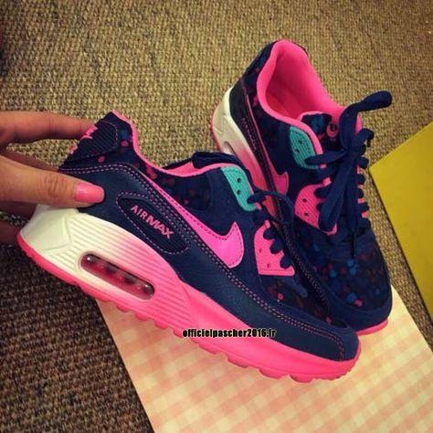 Officiel Nike Air Max 90 SJX Chaussures Nike Sportswear Pas Cher Pour Femme Pink - Denim Blue