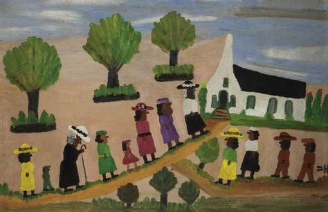 Going To Church By Clementine Hunter Folk Art