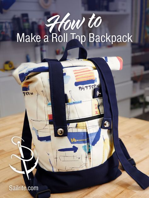 How to Make a Roll Top Backpack