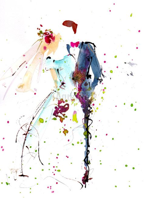 Aquarelle Mariage Printanier Illustration A Par Atelieraquanell
