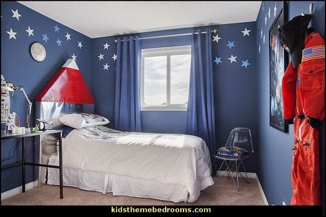 Rocket Ship Theme Bedrooms Astronaut Thee Kid S Room Pinterest And E Bedroom