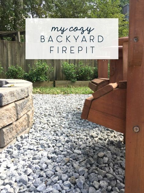 A cozy backyard fire pit is the perfect addition in early fall to any back yard! Check out these tips for getting a large enough one to also clear yard debris on a regular basis. #firepit #bonfire #fall