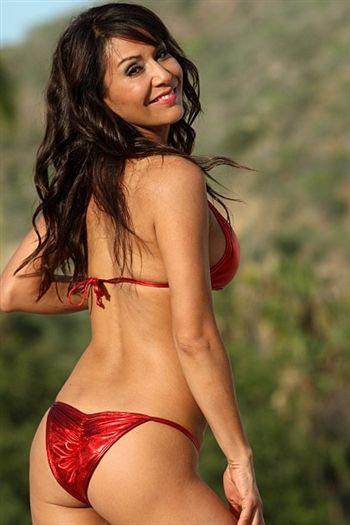 Metallic Red Bikini