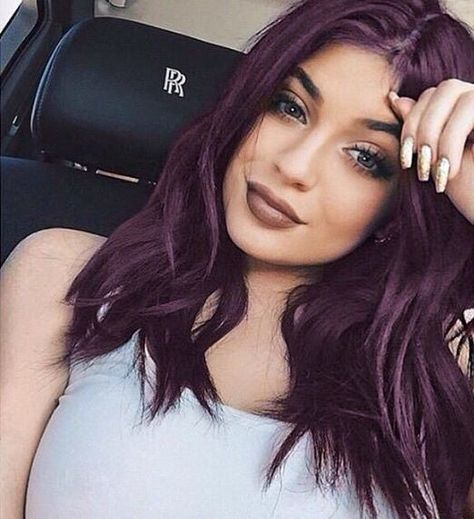 35 Bold And Provocative Dark Purple Hair Color Ideas Part 6 Dark Purple Hair Dark Purple Hair Color Hair Color Plum