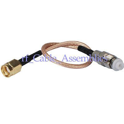 USA-CA RG316 SMA FEMALE ANGLE to FME MALE Coaxial RF Pigtail Cable