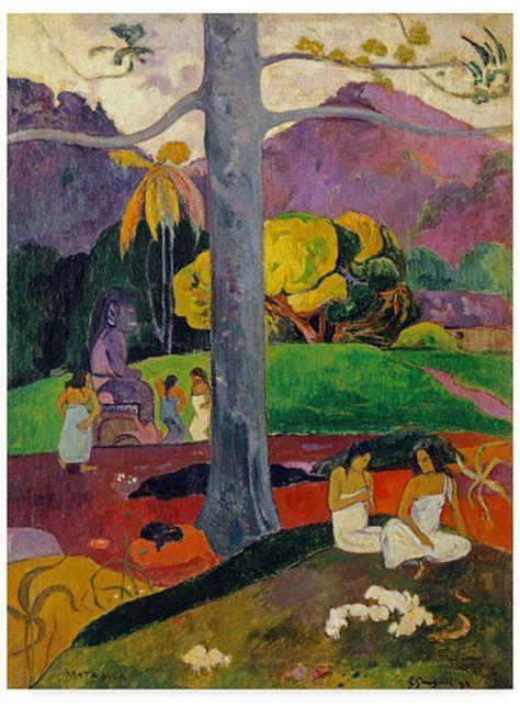 Mata Trademark Global Paul Gauguin 'In Olden Times Mua' Canvas Art - 19  x 14