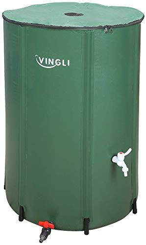 Enjoy Exclusive For Vingli 100 Gallon Collapsible Rain Barrel Portable Water Storage Tank Rainwater Collection System Downspout Water Catcher Container Filte In 2020 Rain Water Collection System Rain Water Collection Storage Tank
