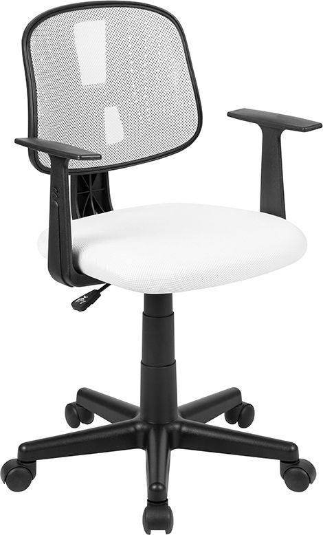 Pivot Back White Mesh Swivel Task Office Chair With Arms Bifma Certified Walmart Com In 2020 Office Chair White Mesh Chair