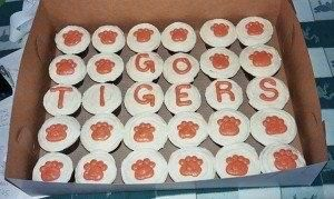 Clemson cupcakes