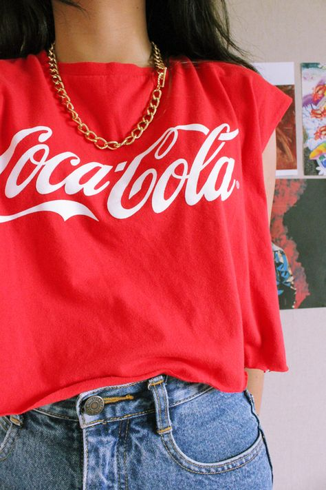 Everyone had a Coca -Cola shirt in the 80s, well except for me...