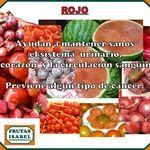 Propirdades de los alimentos de color rojo