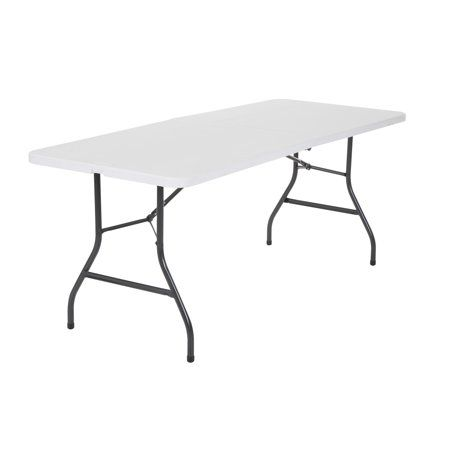Cosco 6 Foot Centerfold Folding Table White Walmart Com Folding Table Cosco Table