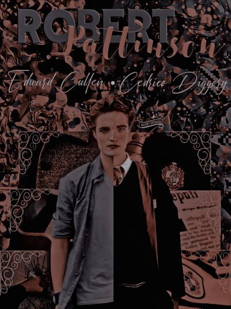 Edit estilo double identity Robert Pattinson personagens Cedrico Diggory e Edward Cullen.