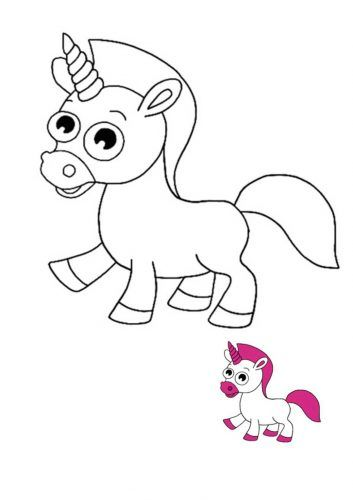 Baby Unicorn Coloring Pages 6 Free Printable Coloring Pages For Kids In 2021 Unicorn Coloring Pages Mermaid Coloring Pages Emoji Coloring Pages
