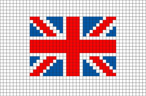 Flag Of United Kingdom Great Britain Pixel Art Graph