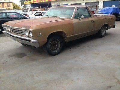Chevrolet : El Camino Malibu Chevelle 1967 CHEVY ELCAMINO MALIBU CHEVELLE FACTORY A/C BARN FIND CALIFORNIA CAR - http://www.usabarnfinds.com/archives/2315