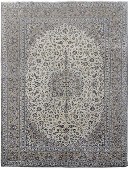 Persian Knot Ivory Handmade Rug Signed 10 X 13 Persian Kashan Rugs In 2020 Kashan Rug Handmade Rug Rugs