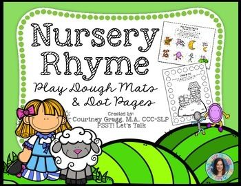 Play-Doh mats are an engaging way to practice nursery rhyme