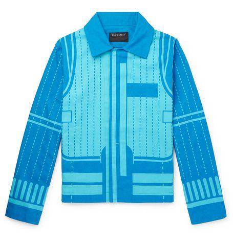 Craig Green Printed Cotton Canvas Blouson Jacket Craiggreen Cloth Craig Green Jackets Green Jacket