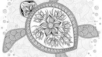 Hawaiian Tattoos Hawaiian Tattoo Turtle Coloring Pages