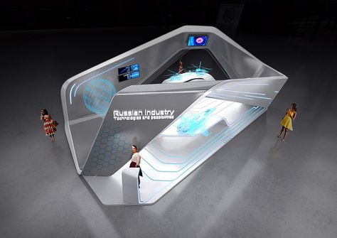 Aerodynamic Exhibition Design Inspiration | Interesting and Strong Design Concept