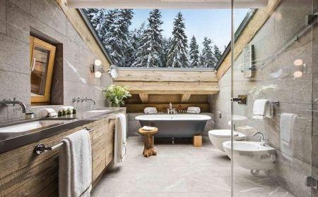 1001 Idees Pour L Amenagement D Un Modele De Salle De Bain Nature En 2020 Salle De Bains Moderne Rustique Dessins De Bains Rustiques Salle De Bain Design