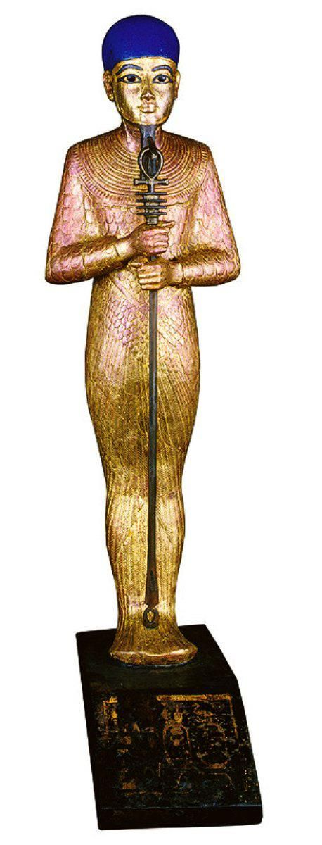Egyptian Museum - Statue of Ptah  BRONZE & WOOD  18TH DYNASTY  EGYPTIAN GOD: PTAH
