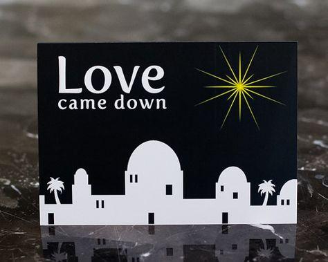 Bethlehem Christmas Card - Love Came Down - Bright Star