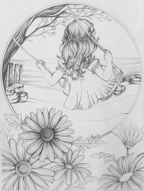 Adult Colouring pages - Cancer awareness day - Colour My Dreams Fairy Coloring Pages, Printable Adult Coloring Pages, Mandala Coloring Pages, Coloring Books, Adult Colouring Pages, Girl Drawing Sketches, Art Drawings Sketches Simple, Girly Drawings, Cancer Awareness