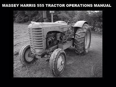 Advertisement Ebay Massey Harris 555 Operation Manual For 555d Tractor Maintenance Service Repair In 2020 Tractors Repair Manual