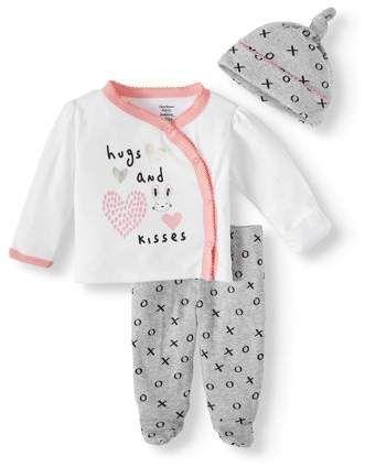 Gerber Baby Boy 3-Piece Organic Cotton Gray Take Me Home Layette Set Preemie