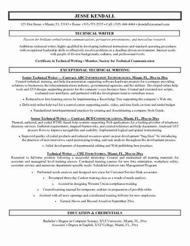 Technical Writer Resume Sample Unique Sample Technical Writer Resume Technical Writer Resume Examples Job Resume Examples