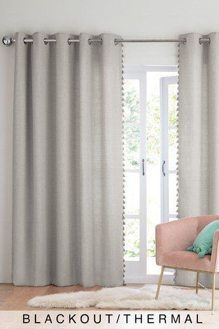 These Grey Tassel Edge Curtains Have A Way Of Making Your Space Look Sophisticated Instantly Eyelet Curtains Ideas Tassel Curtains Curtains