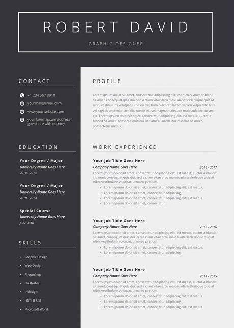 Resume Cv Resume Business Card Psd Resume Cv