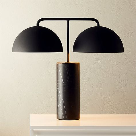 Domes Black Marble Table Lamp + Reviews   Marble table lamp