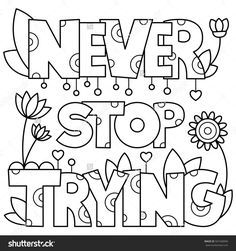 Coloring Page Vector Illustration Color Quote Coloring Pages