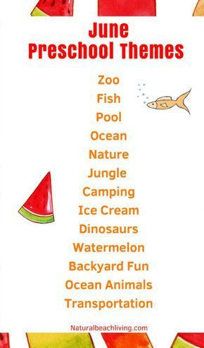 June Preschool Themes With Lesson Plans And Activities Summer Lesson Plans Summer Preschool Themes Summer Lesson