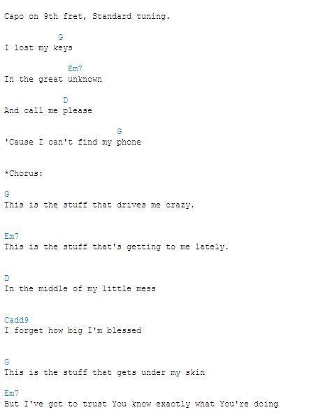 Francesca Battistelli - This Is The Stuff (Chords)