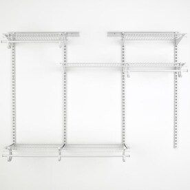 Closetmaid Shelftrack 4 Ft To 6 Ft X 50 5 In White Wire Closet Kit Lowes Com In 2020 Closet Kits Closetmaid Wire Closet Kits