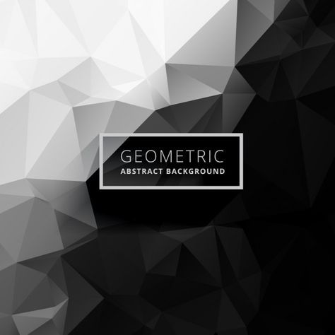 Download Black And White Low Poly Background For Free Vector