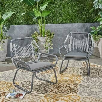 Teardrop Patio Chair With Cushions In 2020 Patio Chairs Lounge