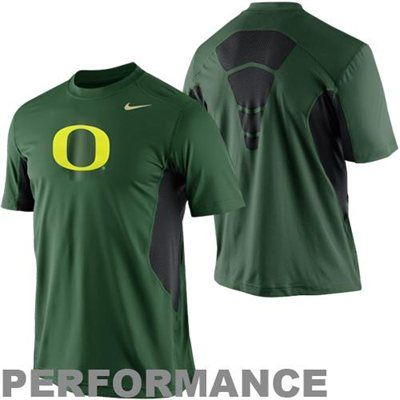 official photos f7b8a 1bbfc Nike Oregon Ducks Pro Combat Hypercool Fitted Performance T-Shirt - Green