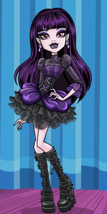 Hey there, I'm Elissabat. I love inhabiting characters, so acting in screamplays is my fave activity at Monster High. Monster High Repaint, Arte Monster High, Cumple Monster High, Custom Monster High Dolls, Monster High Cosplay, Monster High Birthday, Ever After High, Personajes Monster High, Vintage Rosen