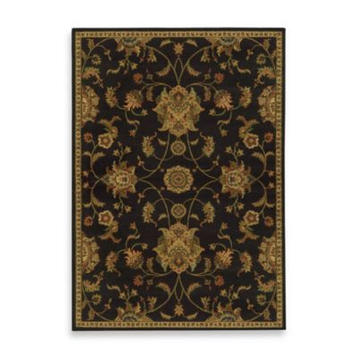 Oriental Weavers Parker Traditional Rug In Black Floral Area